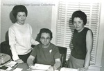 Bridgewater College, Chris Lydle (photographer), Development Office Staff, circa 1966 by Chris Lydle