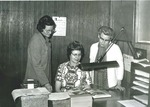Bridgewater College, Ed Novak (photographer), Administration Office Staff, circa 1973 by Ed Novak