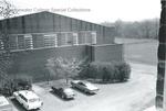 Bridgewater College, Vintage cars parked at side of Alumni Gymnasium, undated by Bridgewater College