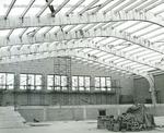 Bridgewater College, Bill Naylor (photographer), Alumni Gymnasium interior construction, 1957 by Bill Naylor