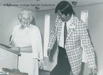 Bridgewater College, Katerine Flory Blough receiving the BC Distinquished Alumnus Award, 1974 by Bridgewater College