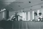 Bridgewater College, Katherine Flory Blough receiving the BC Distinquished Alumnus Award, 1974 by Bridgewater College