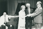 Bridgewater College, Dr. Wayne F. Geisert recognizes Dr. and Mrs. Nelson T. Huffman at the concert dedicating the Steinway piano they donated, 24 May 1980 by Bridgewater College