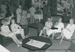 Bridgewater College, Women conversing in the Kline Campus Center lounge on Alumni Day, 1981 by Bridgewater College