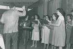 Bridgewater College, Alumni Singers at the Alumni Weekend banquet, 18 May 1985 by Bridgewater College