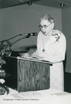 Bridgewater College, Anna B. Mow speaking at the Fifty-Year Club Banquet, 1984 by Bridgewater College