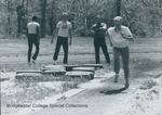 Bridgewater College, Men's long jump at Alumni Track Meet, 3 May 1986 by Bridgewater College