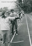 Bridgewater College, Students practicing archery in a phsycial education class, undated by Bridgewater College