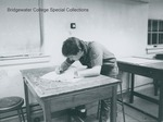 Bridgewater College, A student in art class, 1988 by Bridgewater College