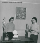 Bridgewater College, Two students standing among art works, undated by Bridgewater College