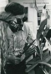 Bridgewater College, Professor Paul Kline teaching a student welding, 1979 by Bridgewater College