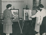 Bridgewater College, Students exhibiting their art work, circa 1952 by Bridgewater College