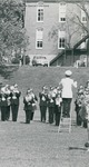 Bridgewater College, Cut fragment of a photograph of the BC Marching Band, circa 1969 by Bridgewater College