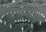 Bridgewater College Marching Band at a Homecoming football game, undated by Bridgewater College