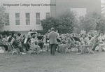 Bridgewater College, Ed Novak (photographer), BC Band playing outside the Alexander Mack Memorial Library, 1970s by Ed Novak