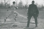 Bridgewater College, Richard Geib (photographer), Baseball action photograph, late 1960s by Richard Geib