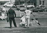 Bridgewater College baseball action photograph, 1970s by Bridgewater College