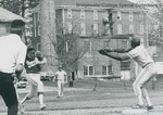 Bridgewater College, Baseball action photograph of Silas Harvey, Jr., 1970s by Bridgewater College