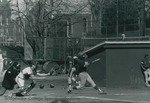 Bridgewater College baseball action photograph, 1990 by Bridgewater College