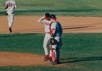 Bridgewater College, Baseball photograph of catcher Greg Rose and pitcher Jason Griffin, circa 1994 by Bridgewater College
