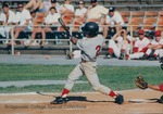 Bridgewater College, Baseball action photograph of Ryan Morris at bat, circa 1994 by Bridgewater College
