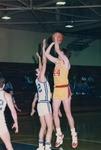 Bridgewater College, Men's basketball action photograph featuring Ramsey Yeatts, November 1986 by Bridgewater College