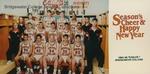 Bridgewater College, Men's basketball team portrait, Holiday card, 1994-1995 by Bridgewater College