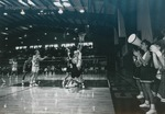 Bridgewater College, Men's basketball action photograph featuring Chris Ihle, 1992 by Bridgewater College