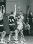 Bridgewater College, Men's basketball action photograph featuring Neil Weigle, circa 1994 by Bridgewater College