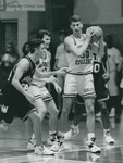 Bridgewater College, Men's basketball action photograph featuring Chad Sowers, circa 1994 by Bridgewater College