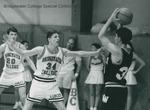 Bridgewater College, Men's basketball action photograph featuring Tim Wilson, circa 1994 by Bridgewater College