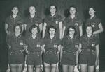 Bridgewater College Women's basketball team portrait, 1956-1957 by Bridgewater College