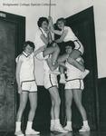 Bridgewater College Women's basketball team ringing Memorial Hall bell, 1965 by Bridgewater College
