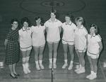 Bridgewater College, Joe Powell (photographer), Team portrait of the women's basketball varsity team, 1968-1969 by Joe Powell