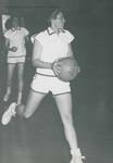 Bridgewater College, Richard Geib (photographer), Basketball action photograph of guard Diane Helbert (foreground) and leading scorer Pat Nunnally, circa 1967 by Richard Geib