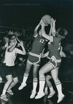 Bridgewater College Women's basketball action photograph featuring Doris Scott, 1970s by Bridgewater College