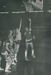 Bridgewater College Women's basketball action photograph, circa 1974 by Bridgewater College