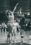 Bridgewater College Women's basketball action photograph, circa 1982 by Bridgewater College