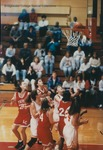 Bridgewater College women's basketball action photograph, circa 1996 by Bridgewater College