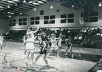 Bridgewater College women's basketball action photograph featuring Robin Lefler #25, 1992 by Bridgewater College