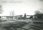 Bridgewater College Farm, Blue Ridge Hall and KCC from campus mall, undated by Bridgewater College