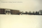 Bridgewater College, Blue Ridge Hall and KCC under snow from mall, 10 December 1992 by Bridgewater College