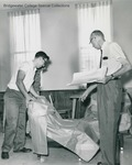 Bridgewater College, John W. Boitnott directing furniture placement during the Booklift, 18 Sept 1963 by Bridgewater College