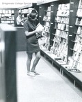Bridgewater College, Student in beanie at campus store, undated by Bridgewater College