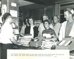 Bridgewater College, First year students in beanies at campus store, 1961 by Bridgewater College