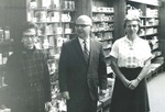 Bridgewater College, Leon Rhodes (manager) and campus store staff, undated by Bridgewater College