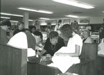 Bridgewater College, Jean Ringold (photographer), Staff and students in campus store, August 1991 by Bridgewater College