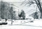 Bridgewater College, Bowman Hall in winter looking toward Dinkle Avenue, undated by Bridgewater College