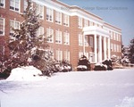 Bridgewater College, Bowman Hall in snow, undated by Bridgewater College