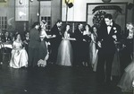 Bridgewater College, Students in conga line at La Fiesta dance, undated by Bridgewater College